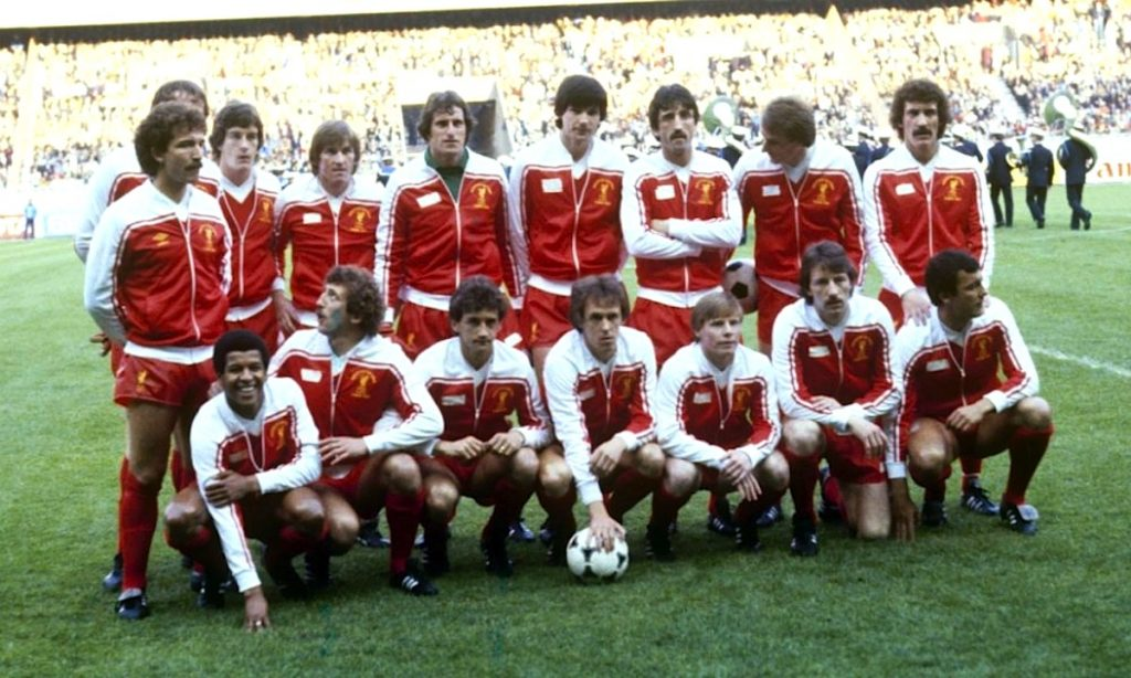 lfc v real madrid paris 1981 team