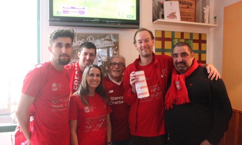 LFC Foundation Lush Bar Liverpool France