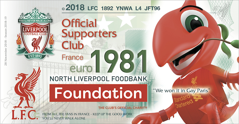 LFC Foundation Liverpool France donation