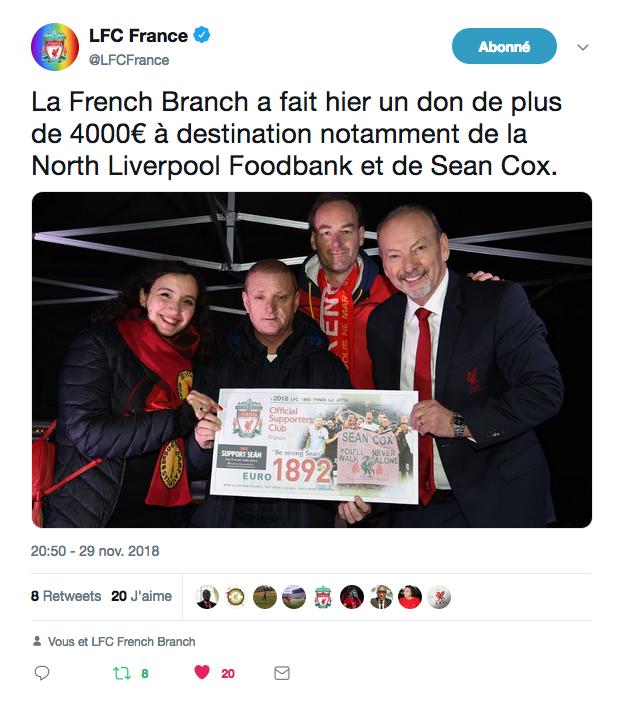 LFC Foundation Sean Cox Samaritains