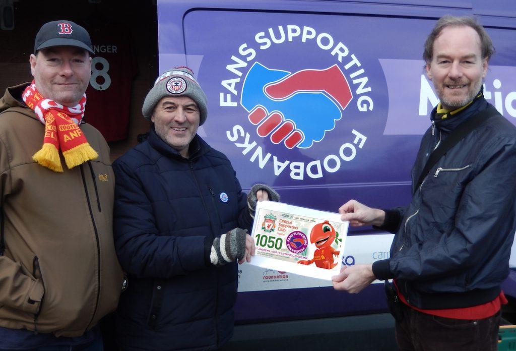 Anfield lfc foodbanks donation