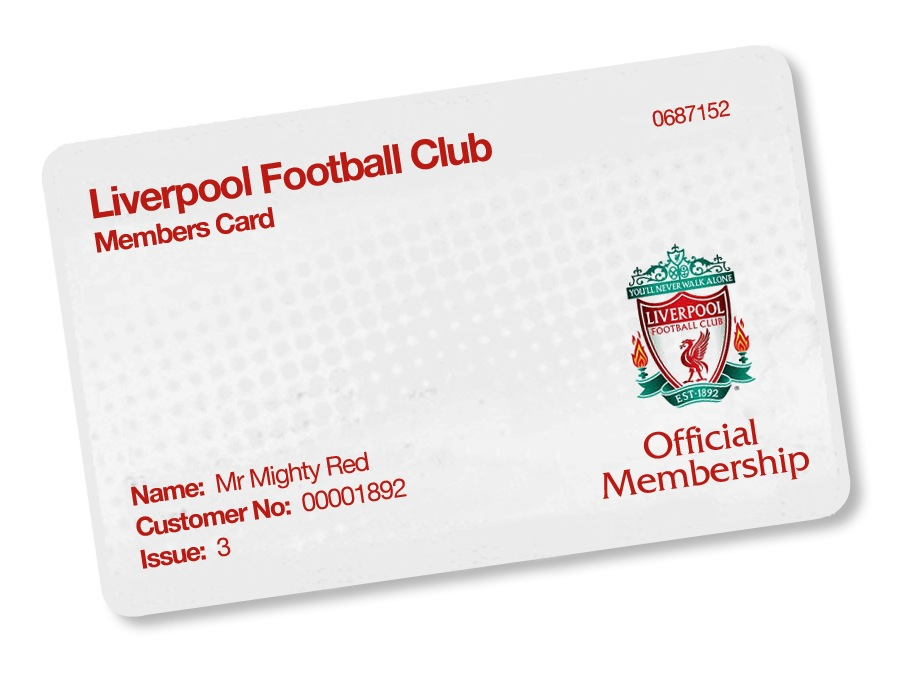 LFC Members Card 2017-18