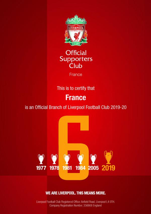 OLSC France certificate LFC 2019-20